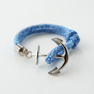 Anchor bracelet / blue paracord