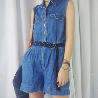 Treasure Hunting - Dark Blue Denim Jumpsuit