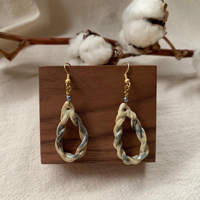 Clay twist earrings 5