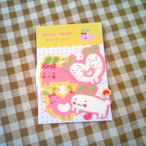 Dream Carrot my rabbit friend - gold can be happy sticker pack dill