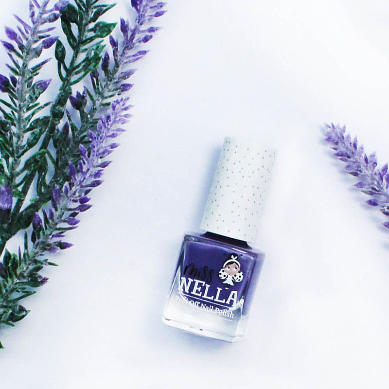 British [Miss Nella] children's water-based tear-proof safety nail polish - sparkling lavender purple (MN11)
