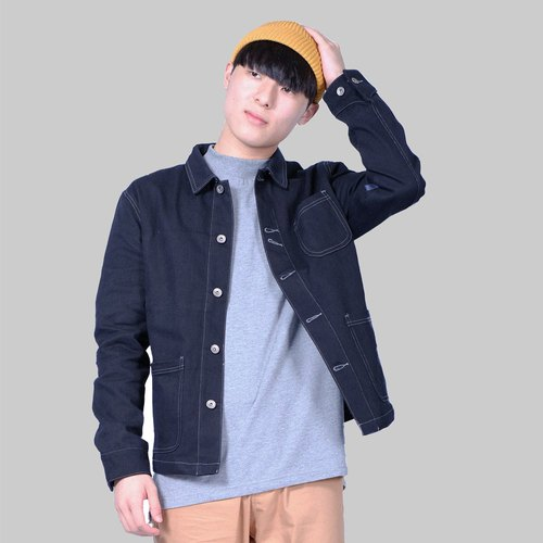 Retro tooling jacket Worker Jacket / simple / couple / autumn and winter coat