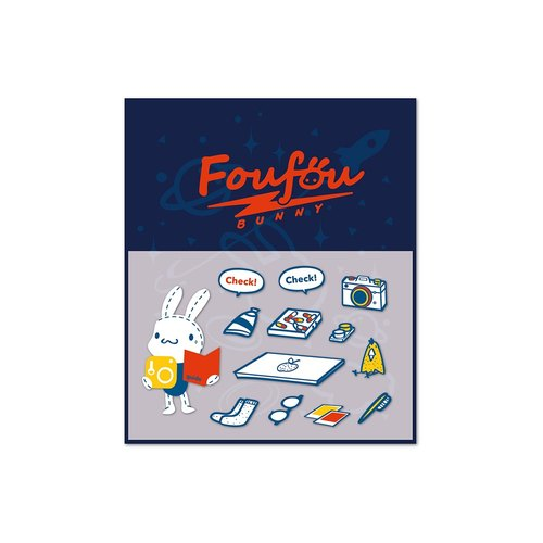 """Foufou"" dry transfer stickers - travel"