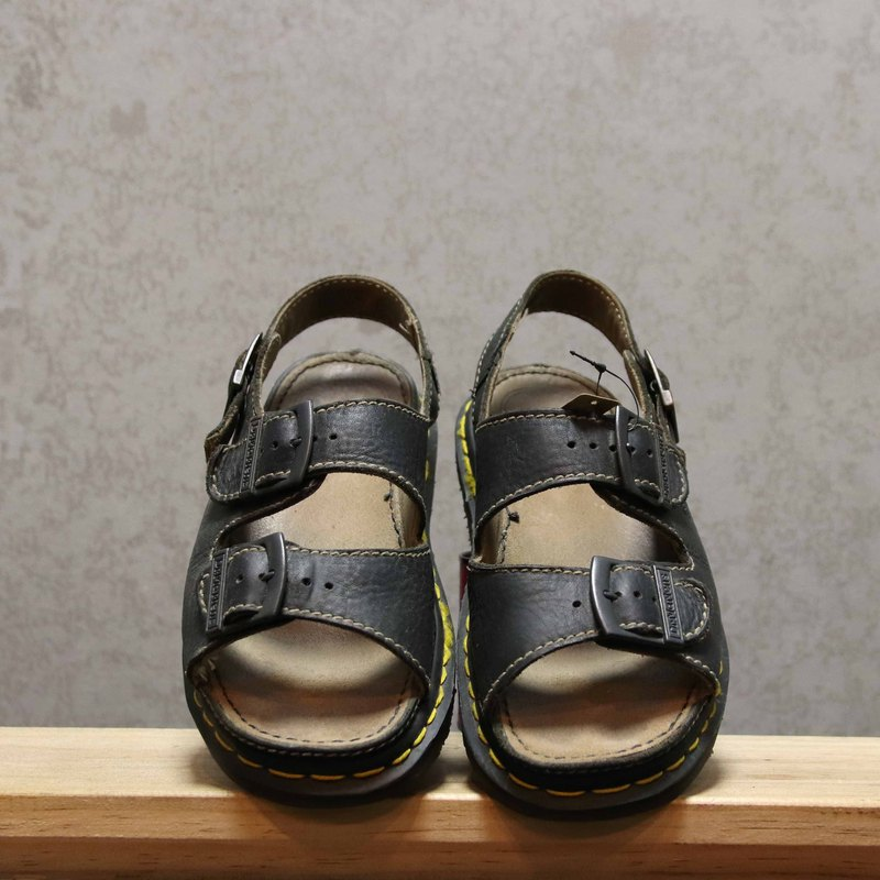 Tsubasa.Y Ancient House Black 007 Martin Sandals, Dr.Martens England