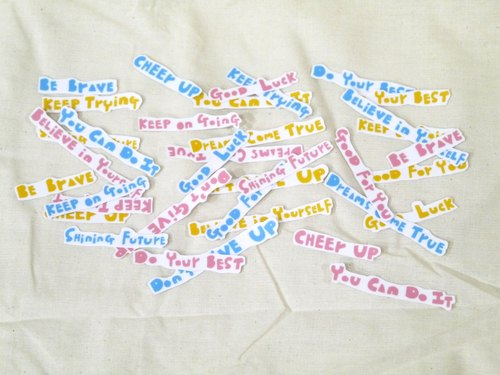 Waterproof stickers | encourage yourself to encourage you (three colors to pick)