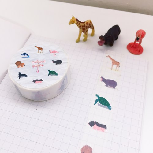 Animal guide paper tape
