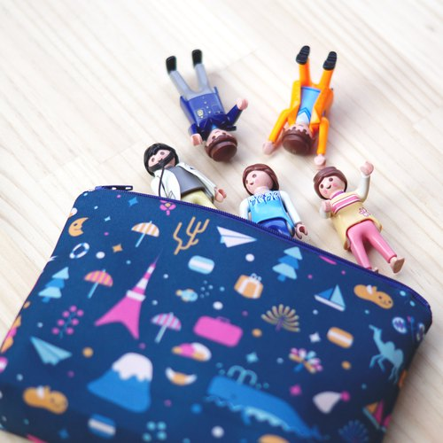 Makeup Bag, Pencil Case - City Patchwork - Second Generation