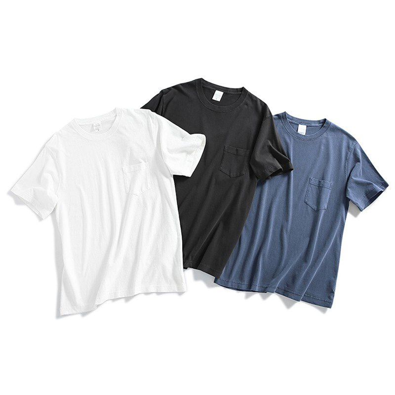 Pocket retro dyed t shirt