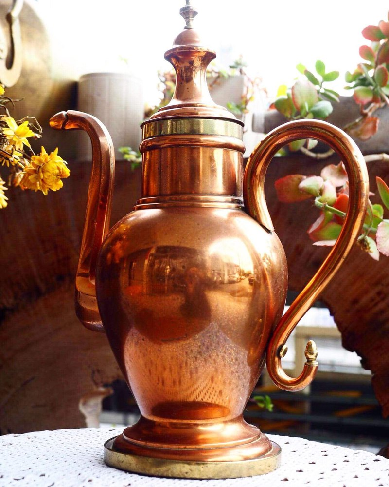 British large copper kettle ornaments large JS