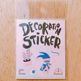 Dimeng Qi small decorative stickers [elf - brushing]