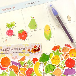 Fruits and Vegetable Stickers 60 Pieces - Planner Stickers - Stickers for Plann