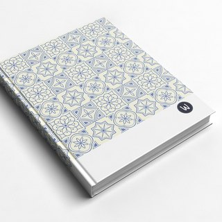 Rococo Strawberry WELKIN hand_Books / notebook / notebook / diary - Geometry Star Series_brick
