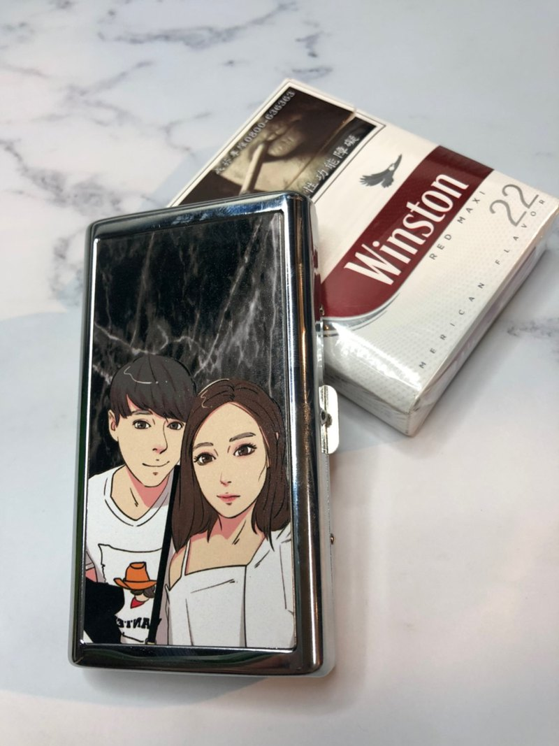 Hand-painted Q version [Double-sided cigarette case] A variety of goods and drawing styles of Jintian Yihui can be customized gifts