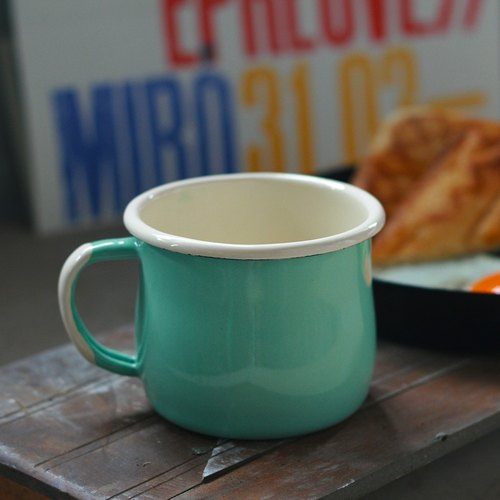 Poland Emalia Olkusz enamel belly cup 250ml (lake green) (FDN000489)