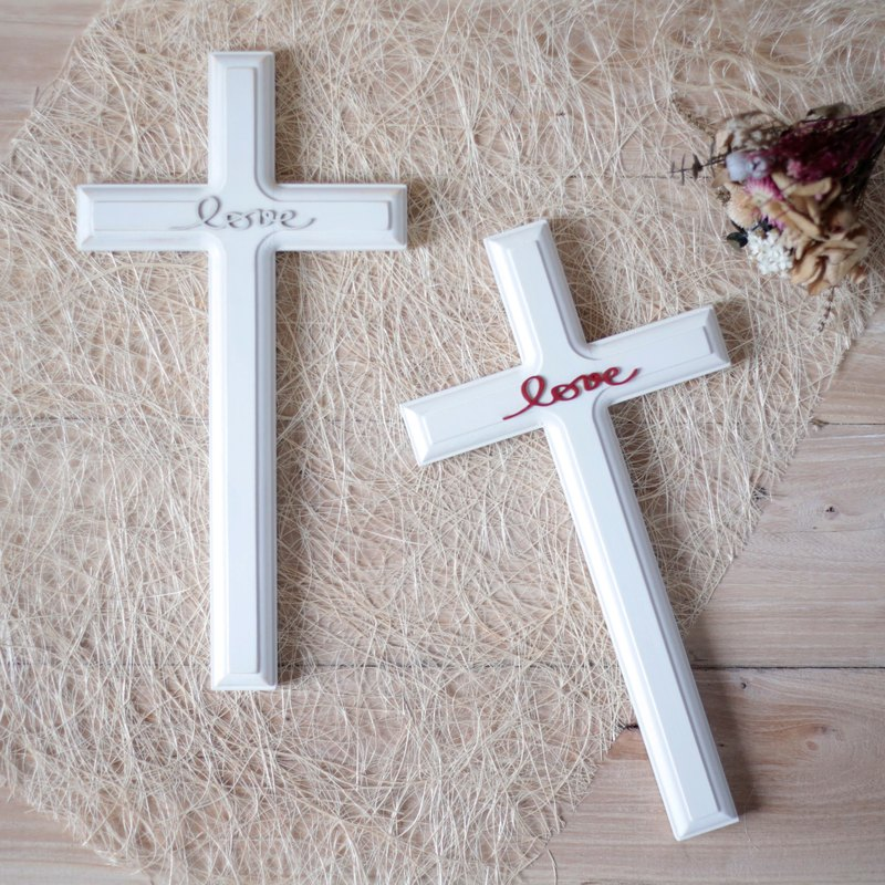 Amour love wood - ten love country wind wood cross wall hanging