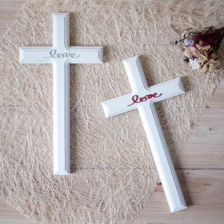 Ten Love Country Style Wood Cross Wall Hanging