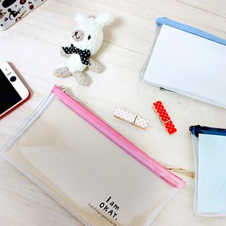 Berger stationery xIamOkay series [transparent pencil case] three colors