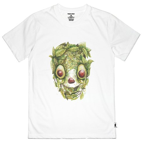 British Fashion Brand [Baker Street] Avocado Skull Printed T-shirt