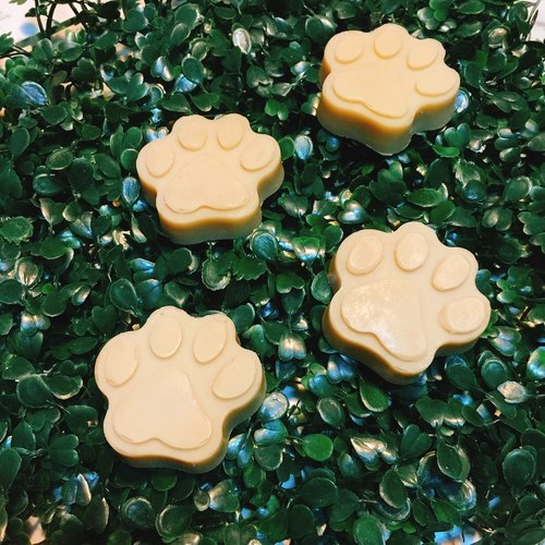 Pure natural handmade dog footprints neem oil pet soap / 20g