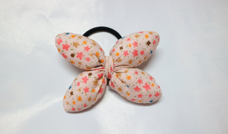 Flower Q Cotton Butterfly Hair Tie Hair Ring*SK*
