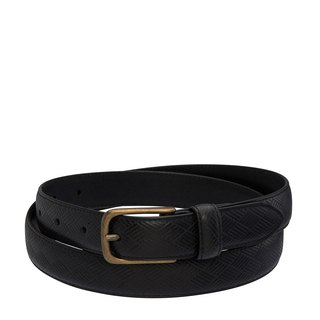 LIFE AFTER Leather Belt _Black / Black
