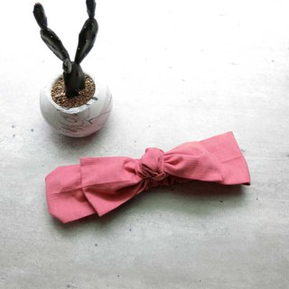 Tender pink bow band