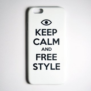 SO GEEK mobile phone shell design brand THE KEEP CALM GEEK FREE STYLE models (white)