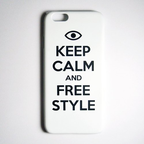 SO GEEK 手機殼設計品牌 THE KEEP CALM GEEK FREE STYLE款(白)