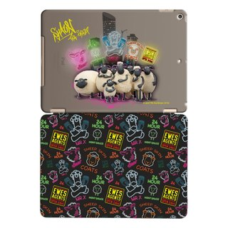 "Smiled sheep genuine authority (Shaun The Sheep) -iPad Crystal Case: Dawn of the Dragon [country] ""iPad Mini"" Crystal Case (Black) + Smart Cover magnetic pole (black)"