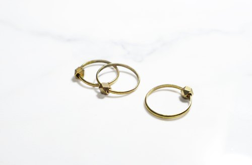 "Round di ""planets -Planet revolving around"" rings (1) can be three wear (with pictures) hand retro red brass"
