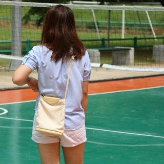 กระเป๋า Linen tote bag / shoulder bag cream