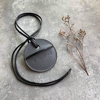 KAKU handmade leather gogoro key leather grey