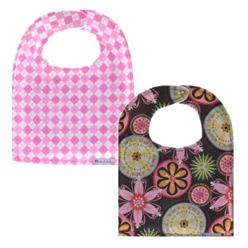 Cotton Fashion Big Bib Preppy Girl+Shimmering Blossom (2 in)
