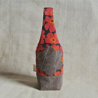 Poppy black safflower - kettle bag / mug bag / beverage bag / umbrella bag