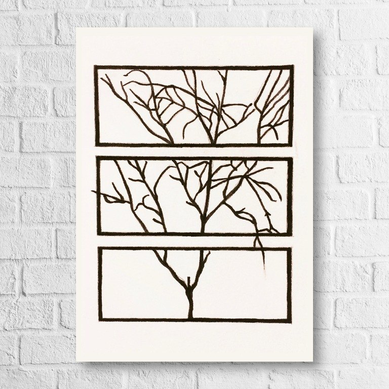 Universal card - winter - branches