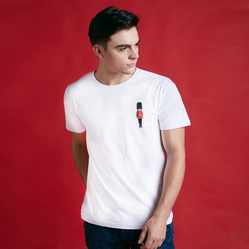 British Fashion Brand [Baker Street] Little Stamp:Grenadier Guard  Printed T-shirt