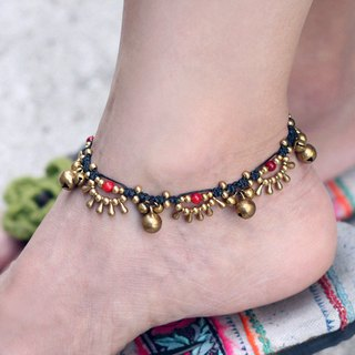 Woven Anklet Lace Water Drop Coral Water Drop Yoga Gypsy