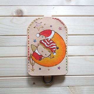 Simple Leather Key Case - Moon Angel