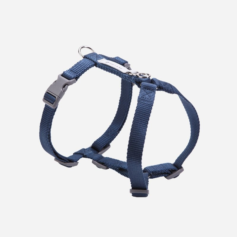 [Tail and me] Classic nylon belt chest strap with dark blue
