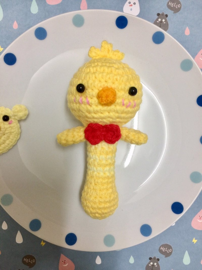 CHUCHU hand-made chick paragraph rattle