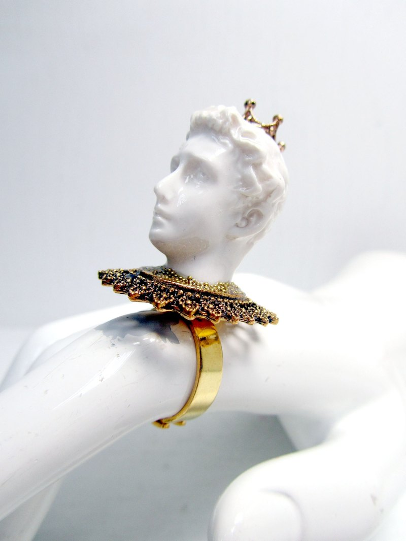 TIMBEE LO imitation ceramic art sculpture Ring