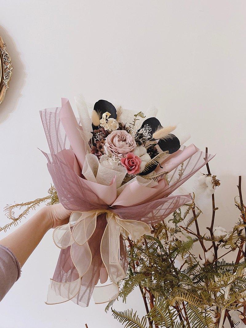 植感裸紗 輕柔系列 永生花乾燥花 花束