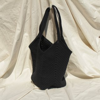 Tote bag ,Market bag ,Black Crochet bag ,Shopping bag
