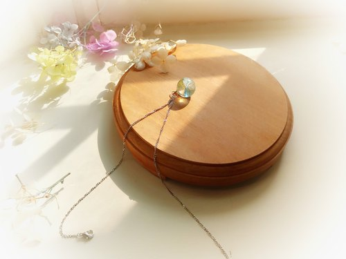 Tanabata limited lotus leaf hydrangea crystal ball clavicle necklace