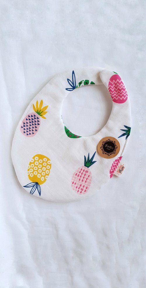 Dawanglai - Peach Yellow - Eight-layer double-sided egg bib