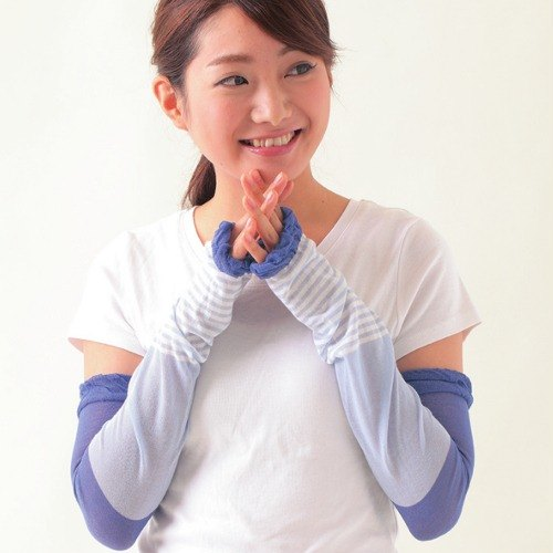 Anti-UV cool sunscreen sleeve blue / pink SHF