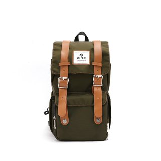 [Twin Series] 2018 Advanced Edition - Traveler Backpack (中)-Nylon Army Green
