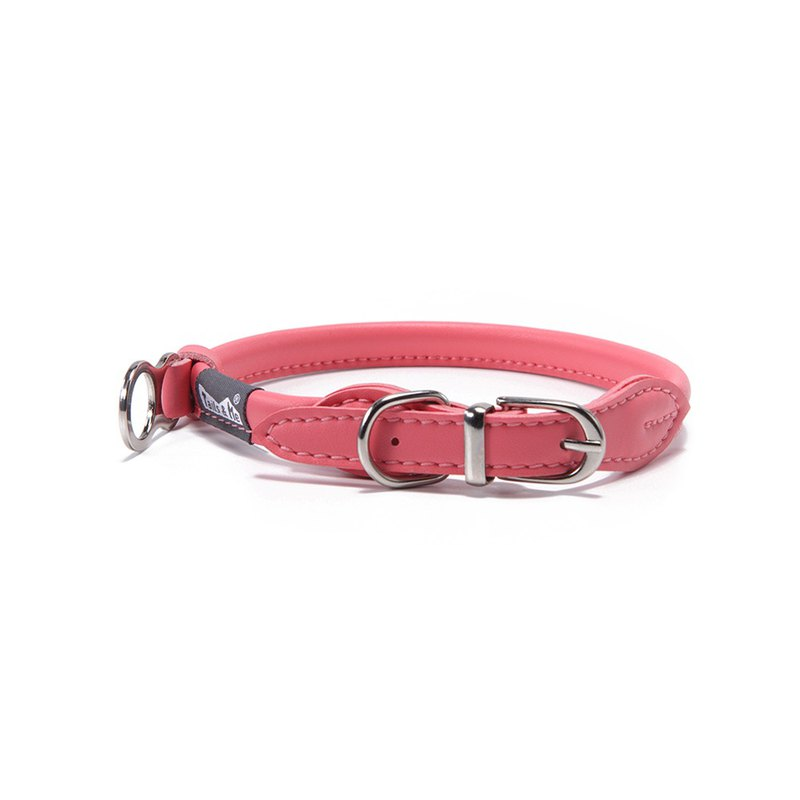 [Tail and Me] Natural Concept Leather Collar Coral Red XS