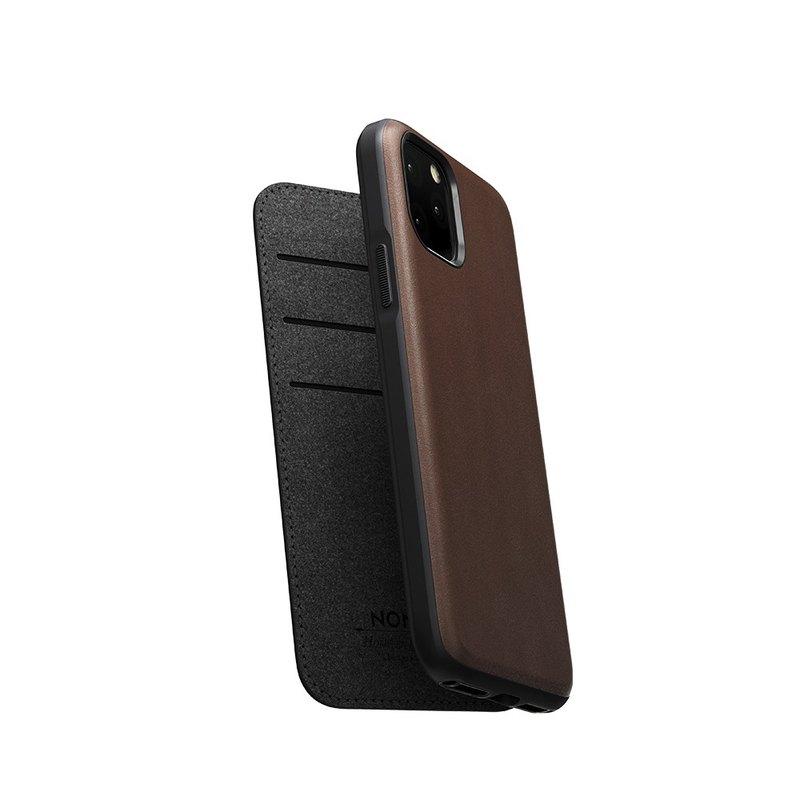 美國NOMAD經典皮革側掀保護套-iPhone 11 Pro 棕856504015886
