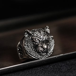 Early Metalworking House-Handmade-925 Silver - Tiger Ring